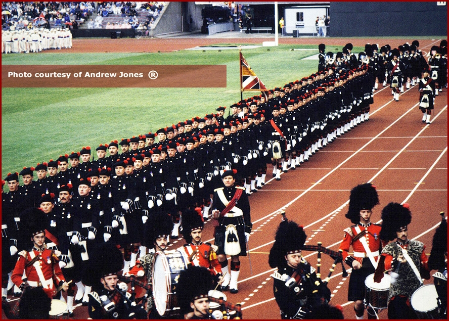 The Union Jack at the Opening Ceremony of the 1986 Commonwealth Games in Edinburgh