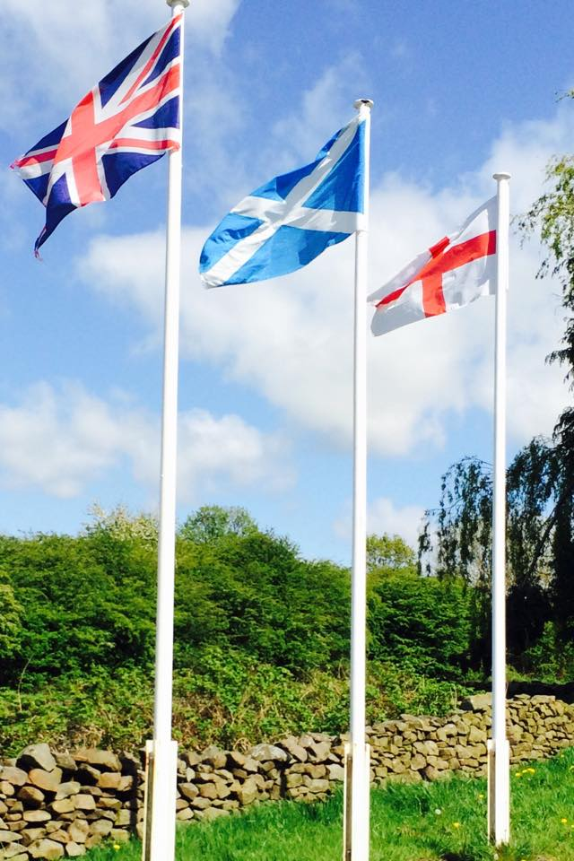 Flags at Morecombe, Lancashire