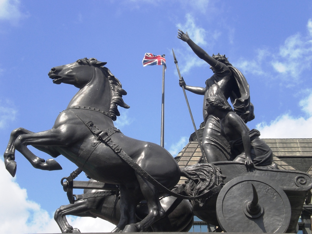 Boadicea and Her Daughters. Copyright Alistair McConnachie, 5-6-14