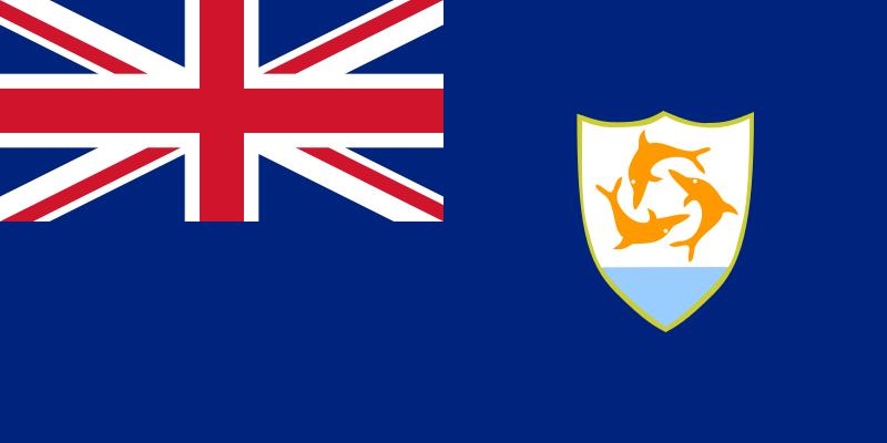 The flag of Anguilla
