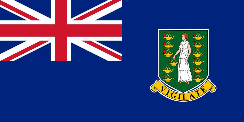 The flag of the British Virgin Islands