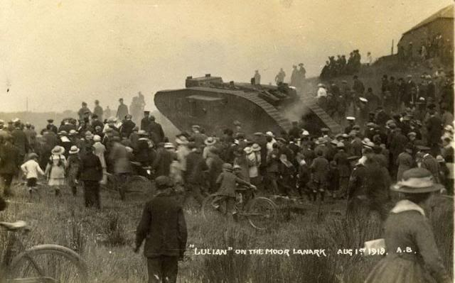 Julian entertaining the crowds on the Moor Lanark 1 August 1918