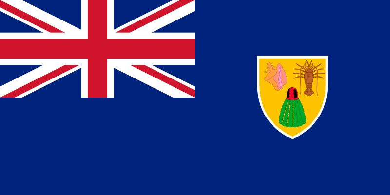 The flag of the Turks and Caicos Islands