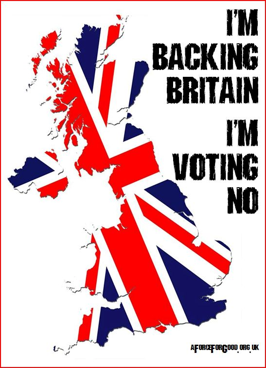 I'm Backing Britain. I'm Voting No