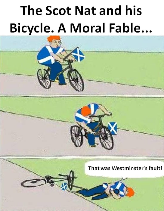 The Scottish Nationalist and his Bicycle