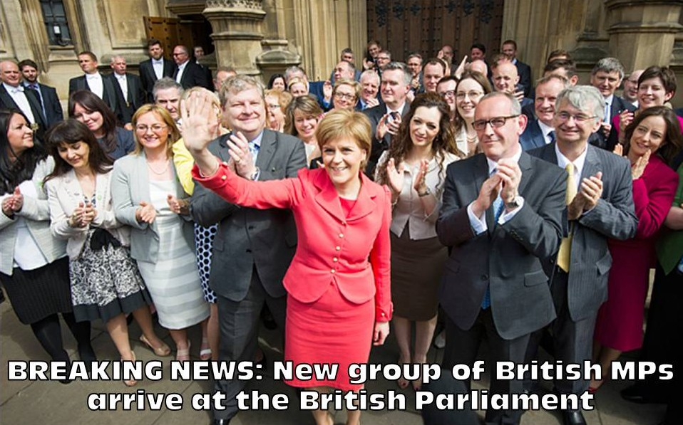 New group of British MPs arrive at the British Parliament 11-5-15.