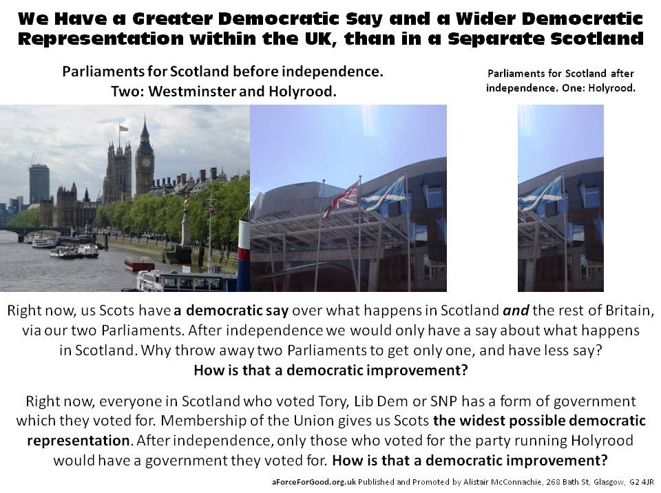 Greater Democratic Say and Wider Democratic Representation.