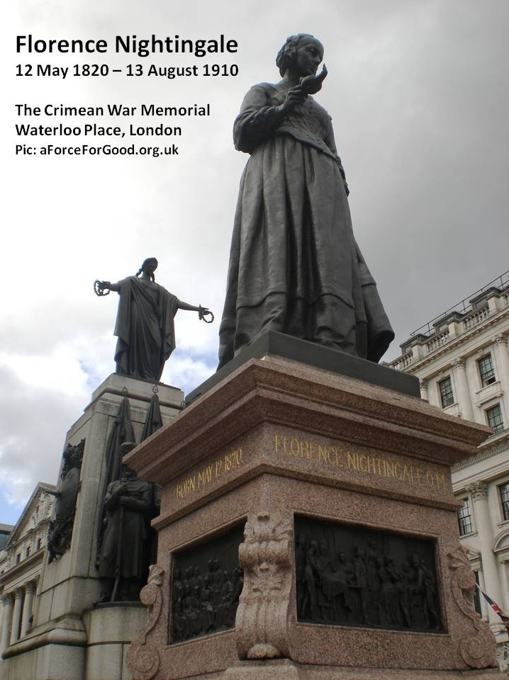 Florence Nightingale, Crimean War Memorial, Waterloo Place.