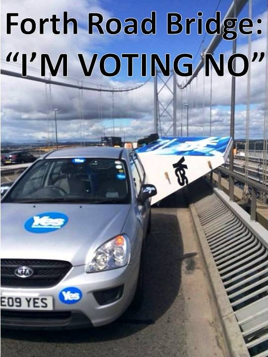 Iconic Forth Road Bridge says: