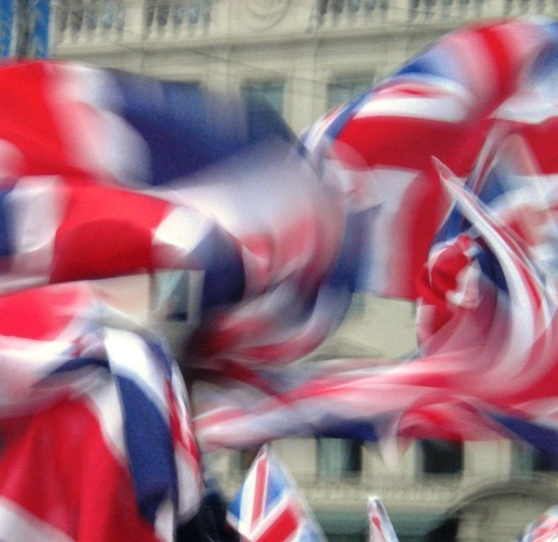 A swirl of Union Jacks in George Square, Glasgow, Friday 19 September 2014. Pic copyright of Alistair McConnachie.