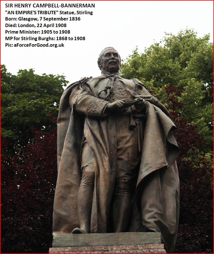 'An Empire's Tribute' statue of Sir Henry Campbell-Bannerman