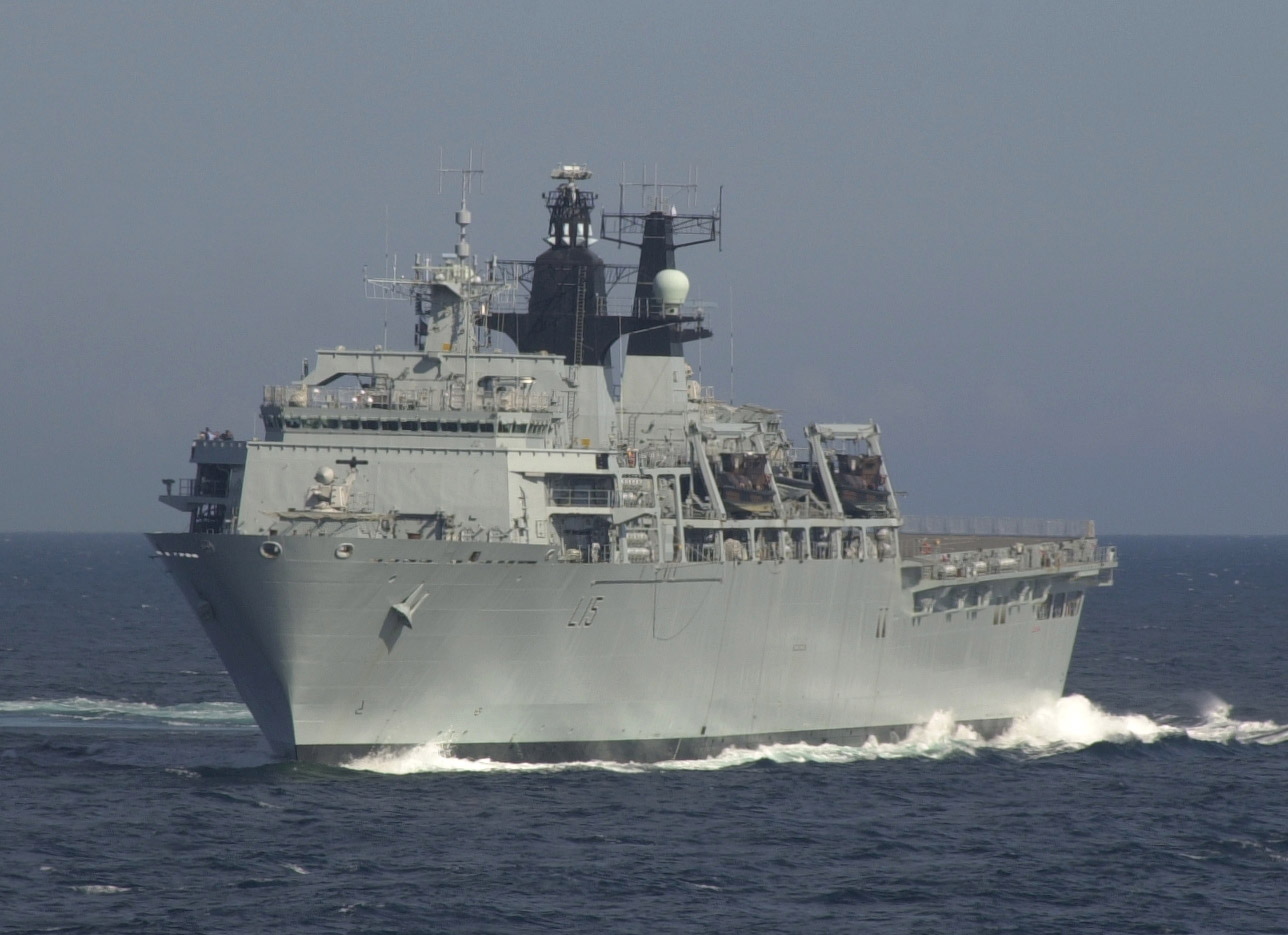 HMS Bulwark. Albion class landing platform commissioned in 2004 seen in 2007. From Wikipedia Author Hmfcalum
