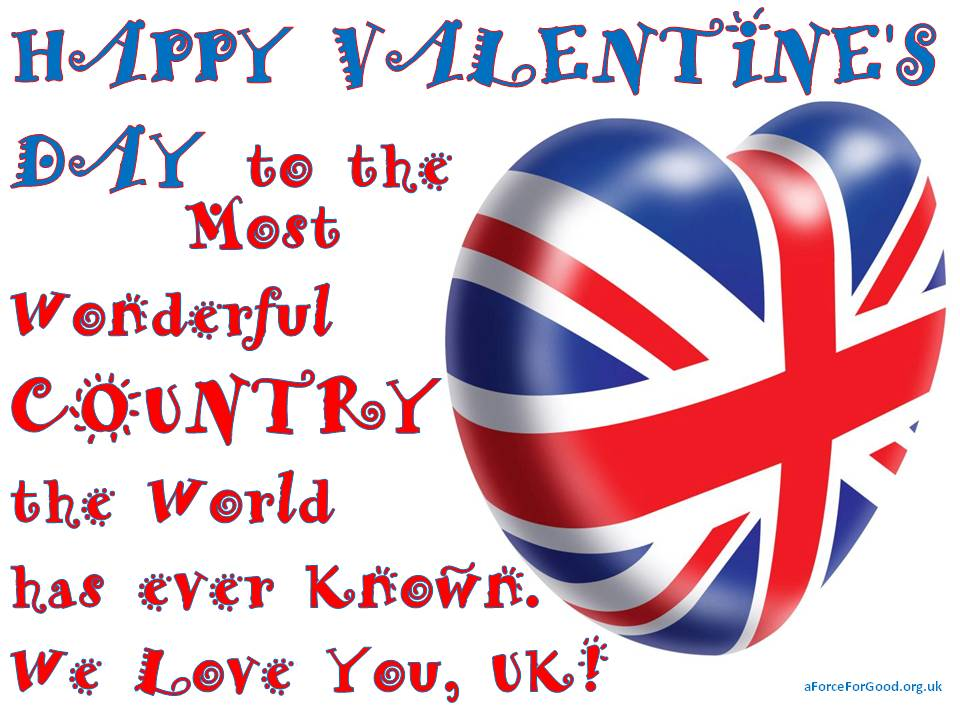 Happy Valentine's Day to the UK.