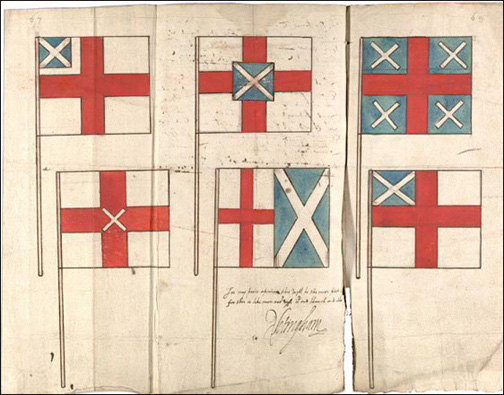 Early designs for the Union Jack