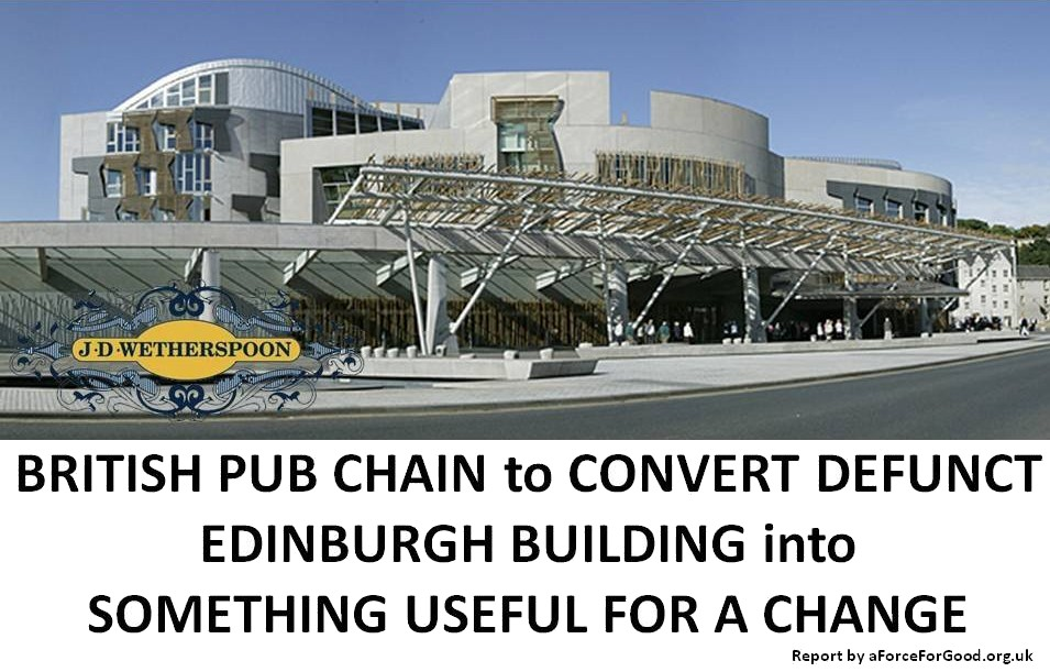 Wetherspoons purchasing Holyrood April Fool