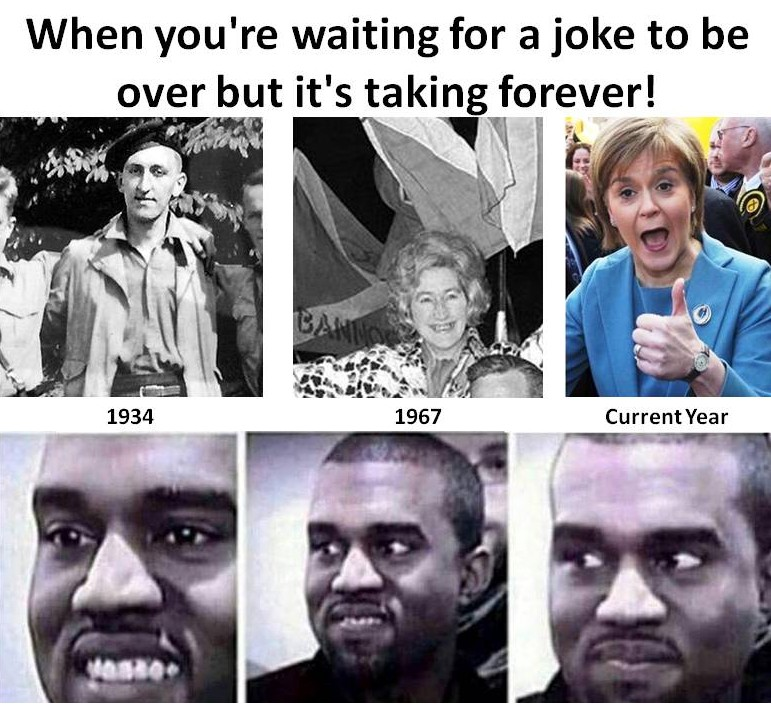 Waiting for the Joke to End