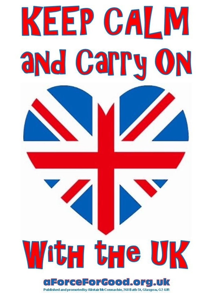 Keep Calm and Carry On with the UK.