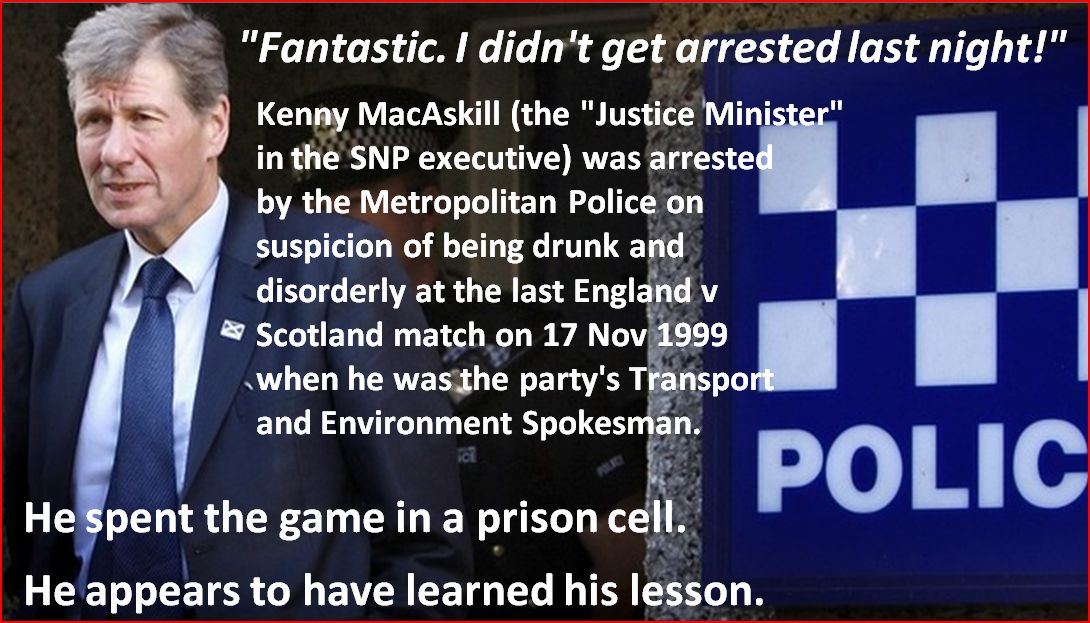 Kenny MacAskill not arrested last night