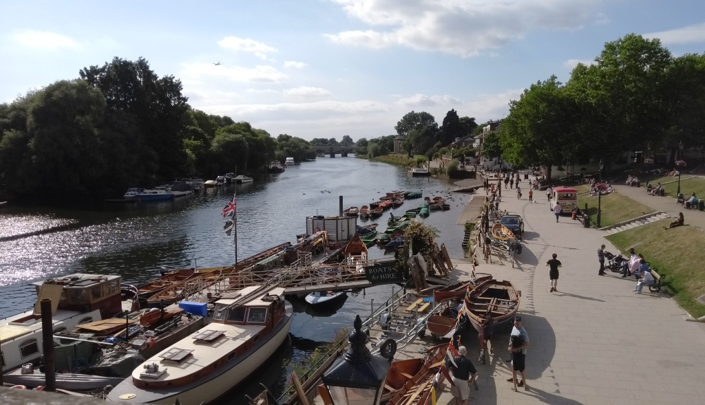 The view from Richmond Bridge. Pic: Copyright of Alistair McConnachie, 16-6-17