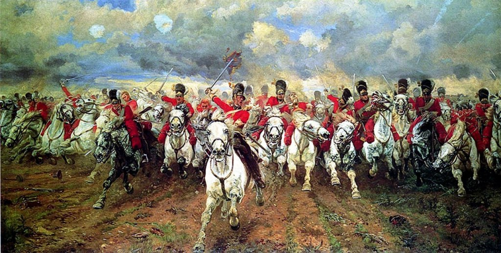 Royal Scots Greys Lady Elizabeth Butler painting