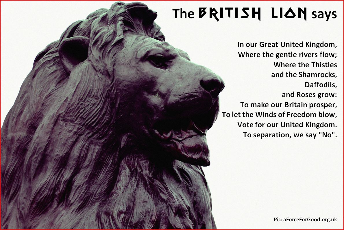 The British Lion, Poem