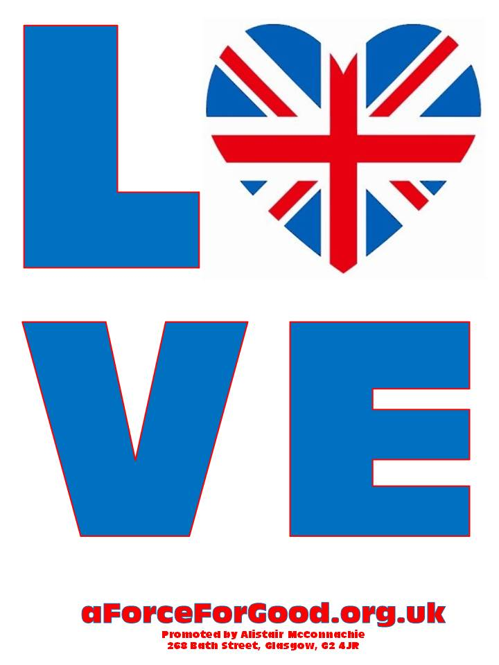 Love with Union Jack Heart design 1