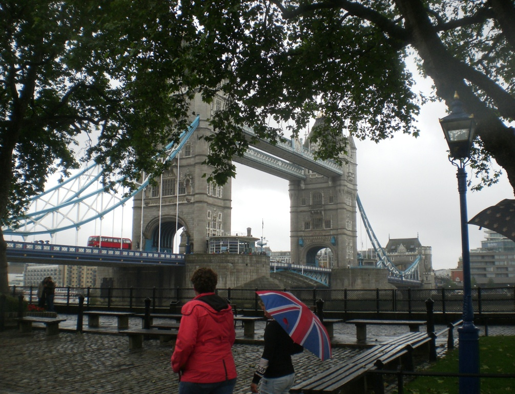 Tower Bridge viewed from outside the Tower of London. Pic: Copyright of Alistair McConnachie, 12-6-16