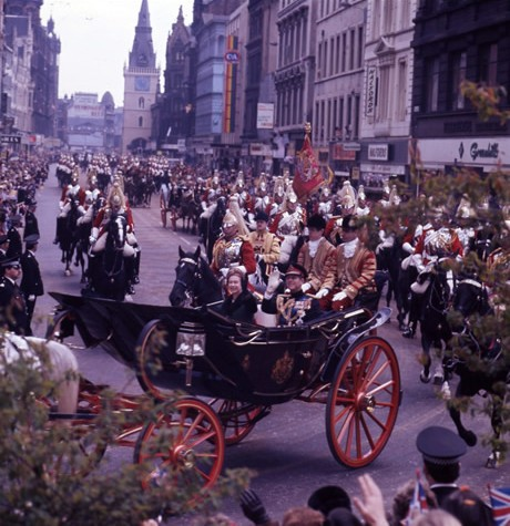 The Queen at the start of her Silver Jubilee year, Argyle Street, Glasgow 17 May 1977