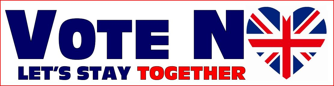 Vote No. Let's Stay Together Banner