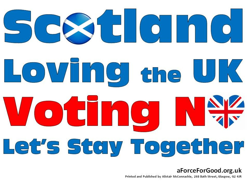 Scotland Loving the UK Voting No Let's Stay Together