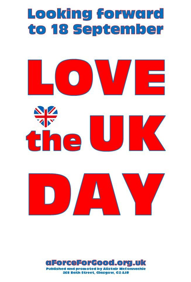 Looking forward to 18 September. Love the UK Day, with Imprint.