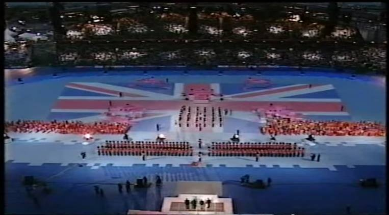 The Union Jack at the Opening Ceremony of the Commonwealth Games in Manchester in 2002