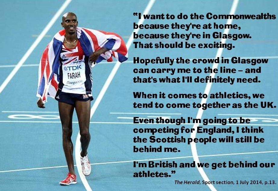 Mo Farah on Commonwealth Games.