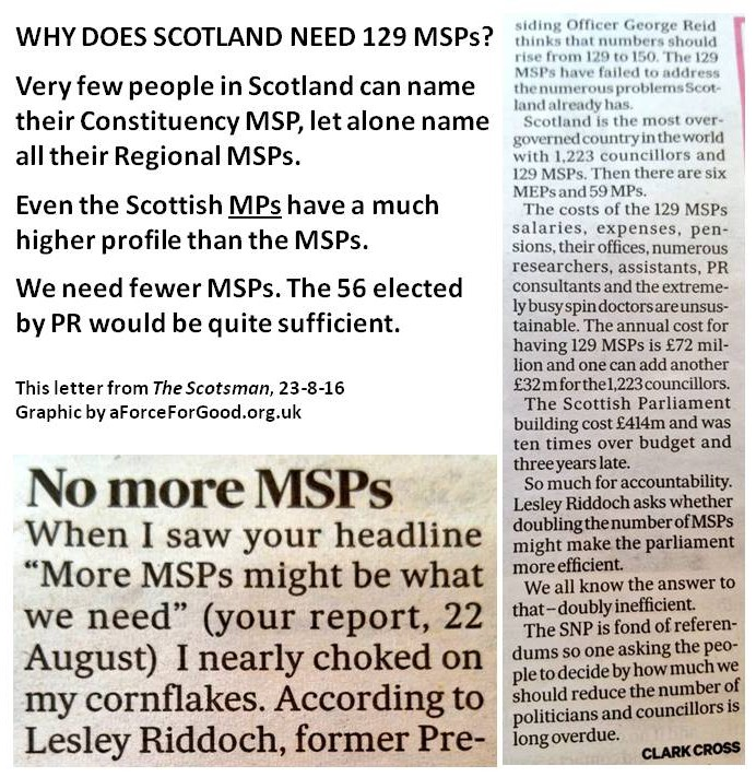 Why Does Scotland Need 129 MSPs?