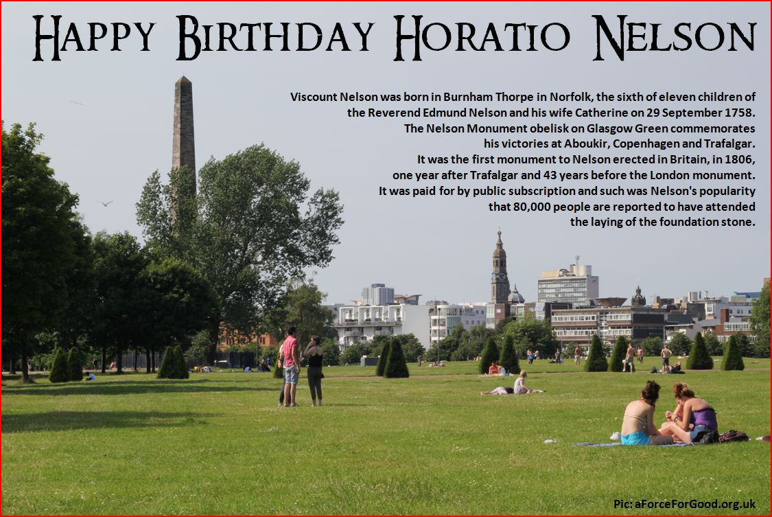 Happy Birthday Horatio Nelson