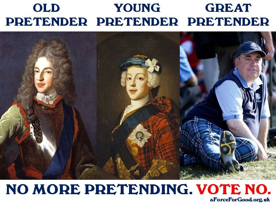 Old Pretender, Young Pretender, Great Pretender. No More Pretending. Vote No.