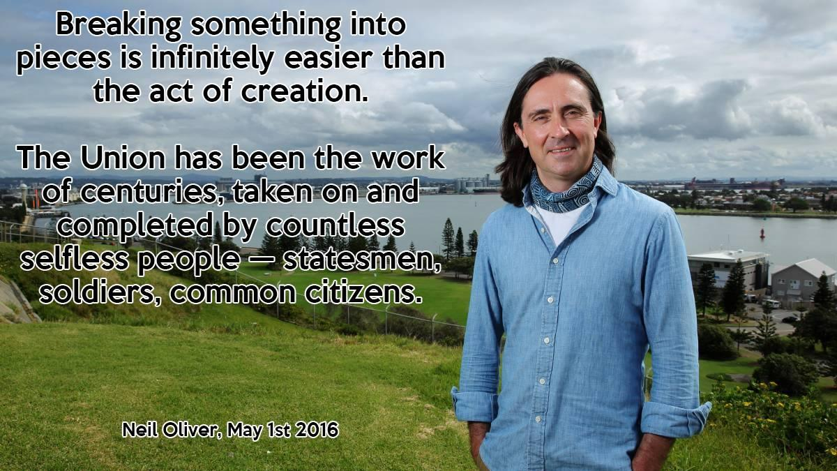 Quote from Neil Oliver's 1-5-16 Sunday Times article