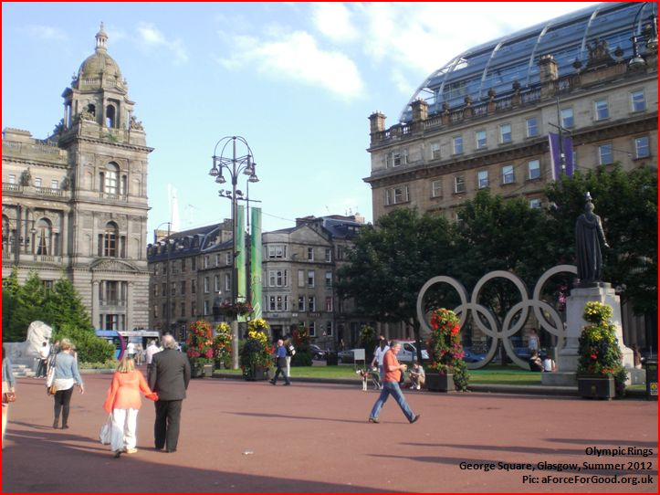 Olympic Rings, George Square, Glasgow Summer 2012