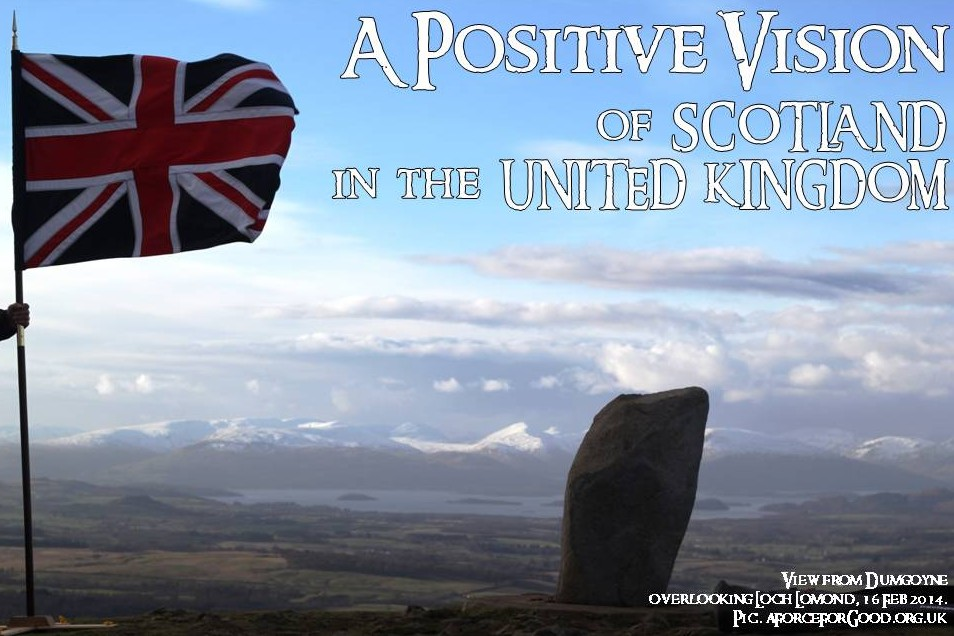 Positive Vision of Scotland in the United Kingdom. Photo copyright Alistair McConnachie