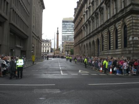 Waiting for the Queen to arrive in Glasgow, 4-7-12. Pic: Copyright Alistair McConnachie