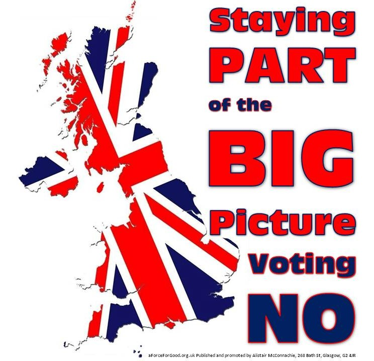Staying Part of the Big Picture. Voting No.
