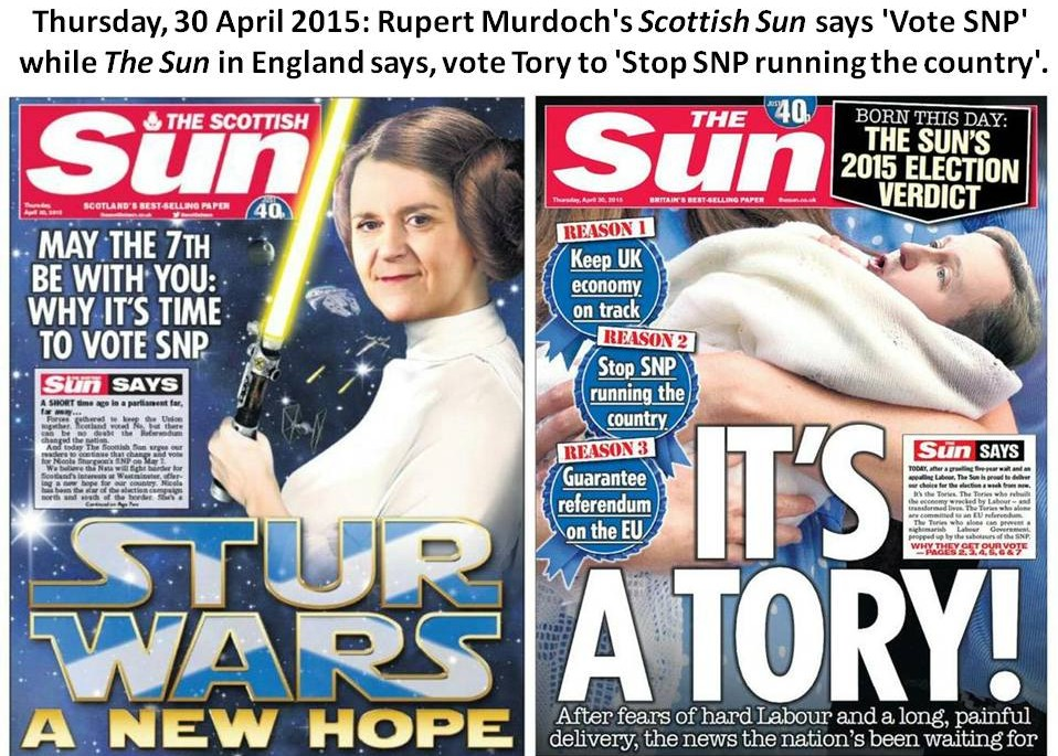 Sun Newspaper Front covers 30-4-15