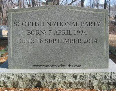 Scottish National Party. Born: 1934. Died: 18 September 2018