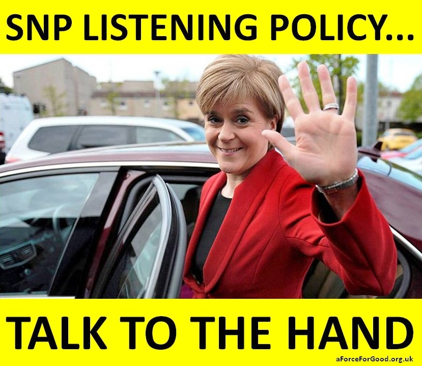 SNP Listening Policy: Talk to the Hand