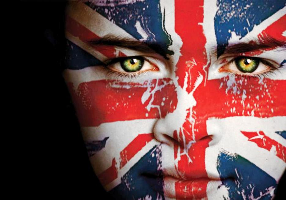 Union Jack Face Paint