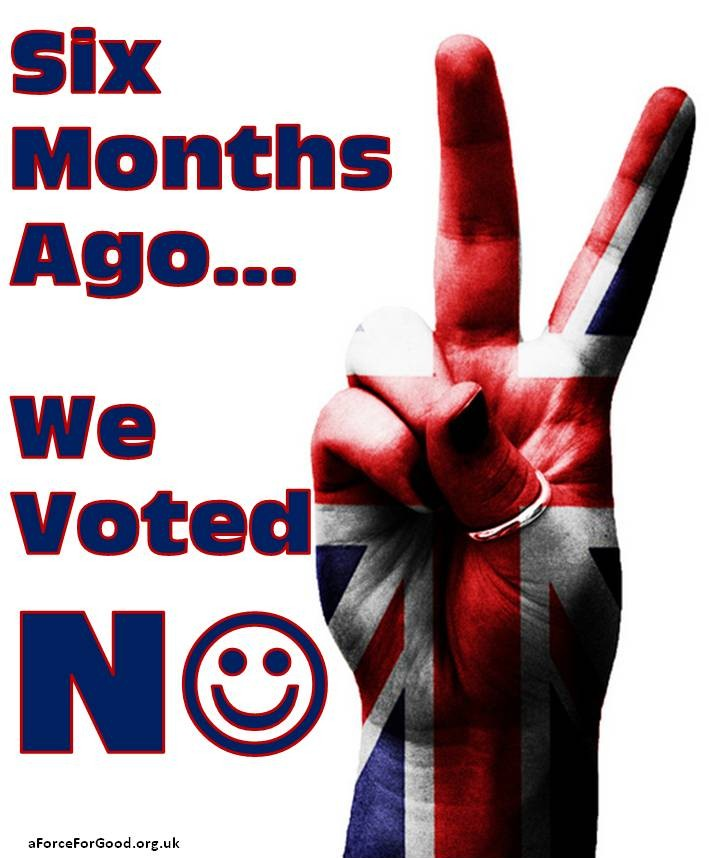 Six Months Ago...We Voted No