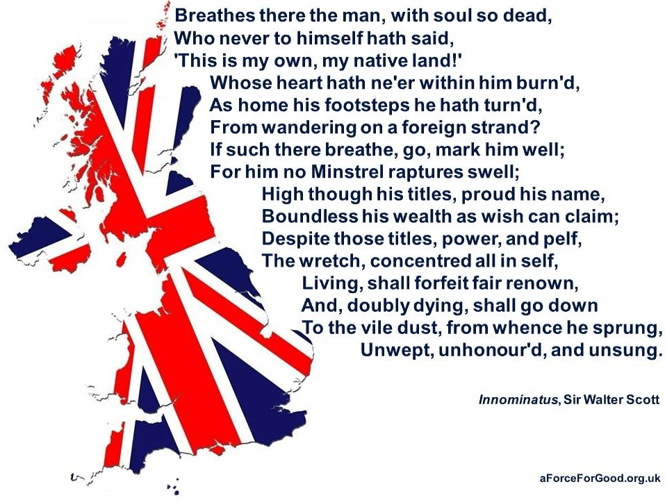 Breathes there the man...poem by Sir Walter Scott
