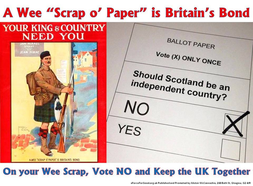 A Wee Scrap of Paper is Britain's Bond. Vote No.