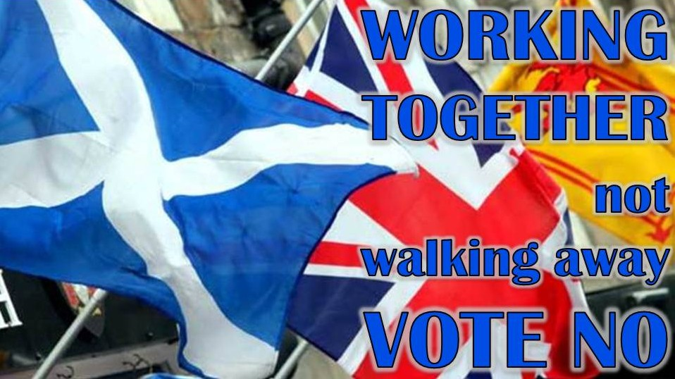 Working Together not walking away. Vote No.