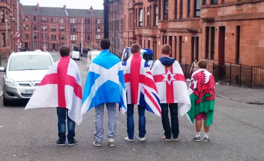 Young Unionists in Glasgow during the Referendum campaign 2014